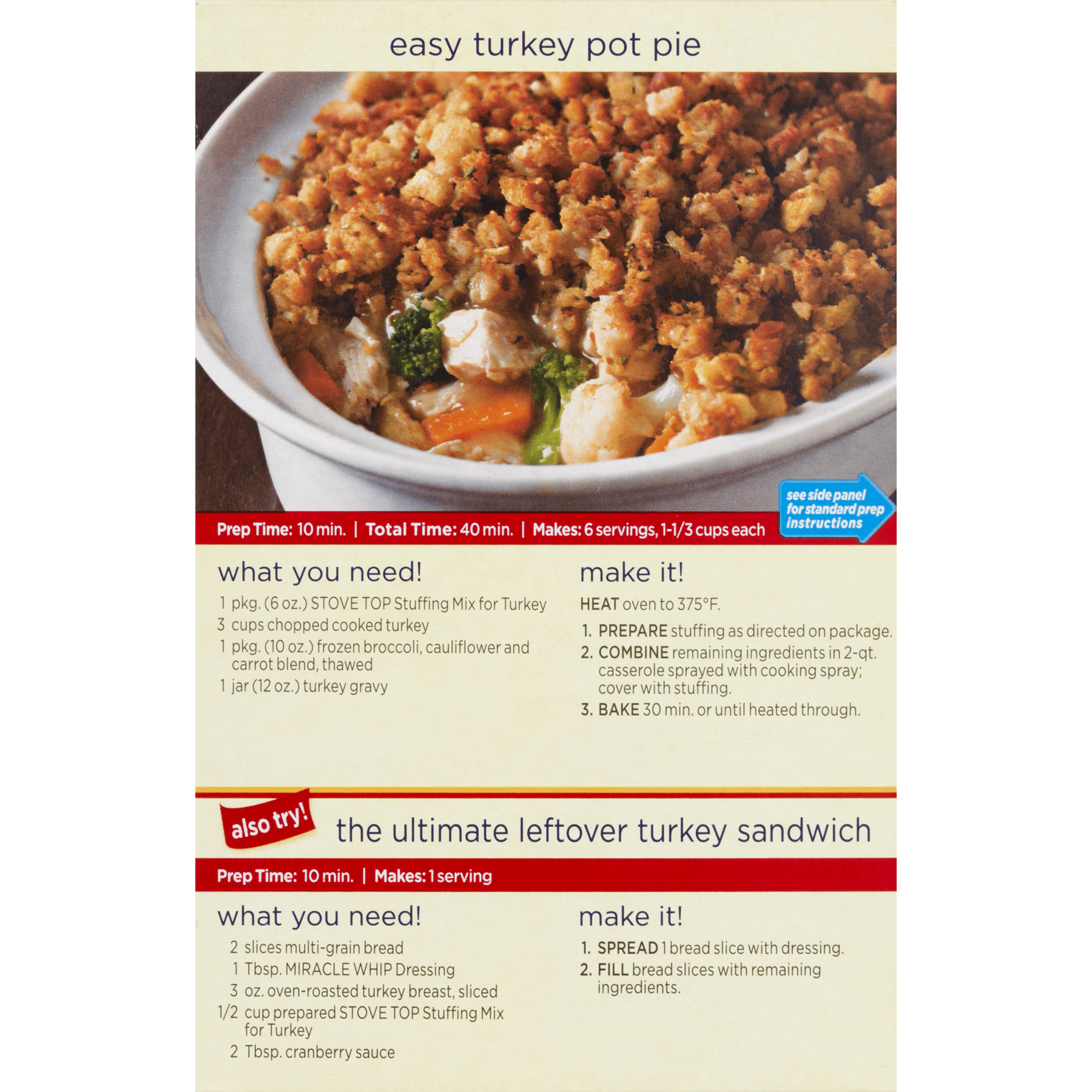 stove top stuffing. kraft for turkey stove top stuffing mix, 6 oz (pack of 2) - walmart.com