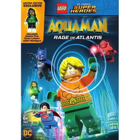 LEGO DC Super Heroes: Aquaman: Rage of Atlantis (w/mini figurine) ( (DVD)) (All The Superheroes)