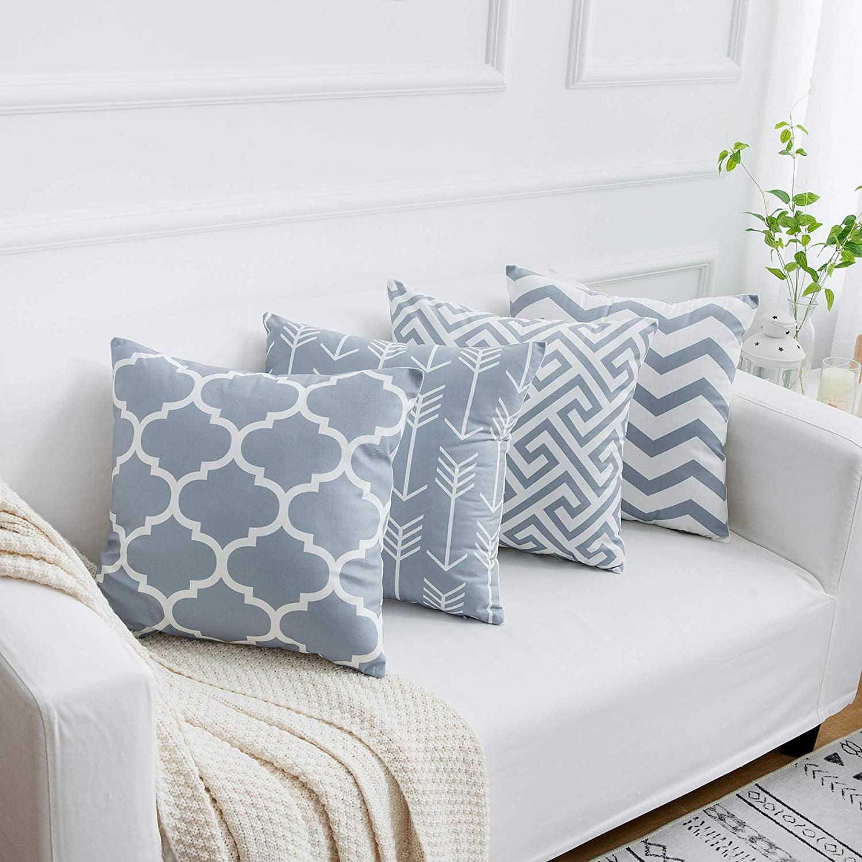 Geometric Floral Velvet Throw Pillow Case Cushion Cover Home Sofa Decor New AA