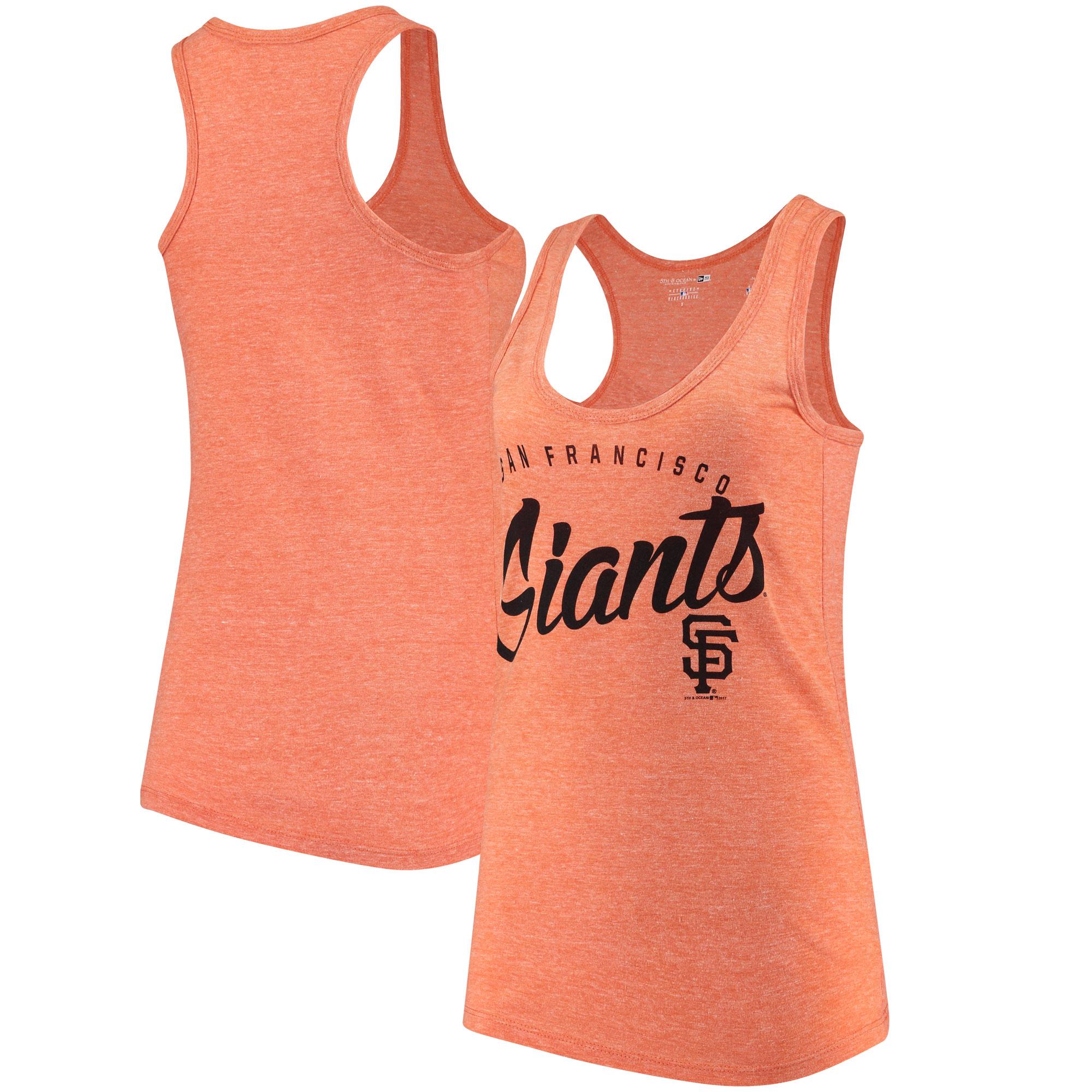 San Francisco Giants 5th & Ocean by New Era Women's Tri-Blend Racerback Tank Top - Orange