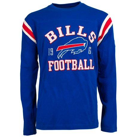 Buffalo bills nfl lateral felt applique long sleeve jersey for Buffalo bills t shirt jersey