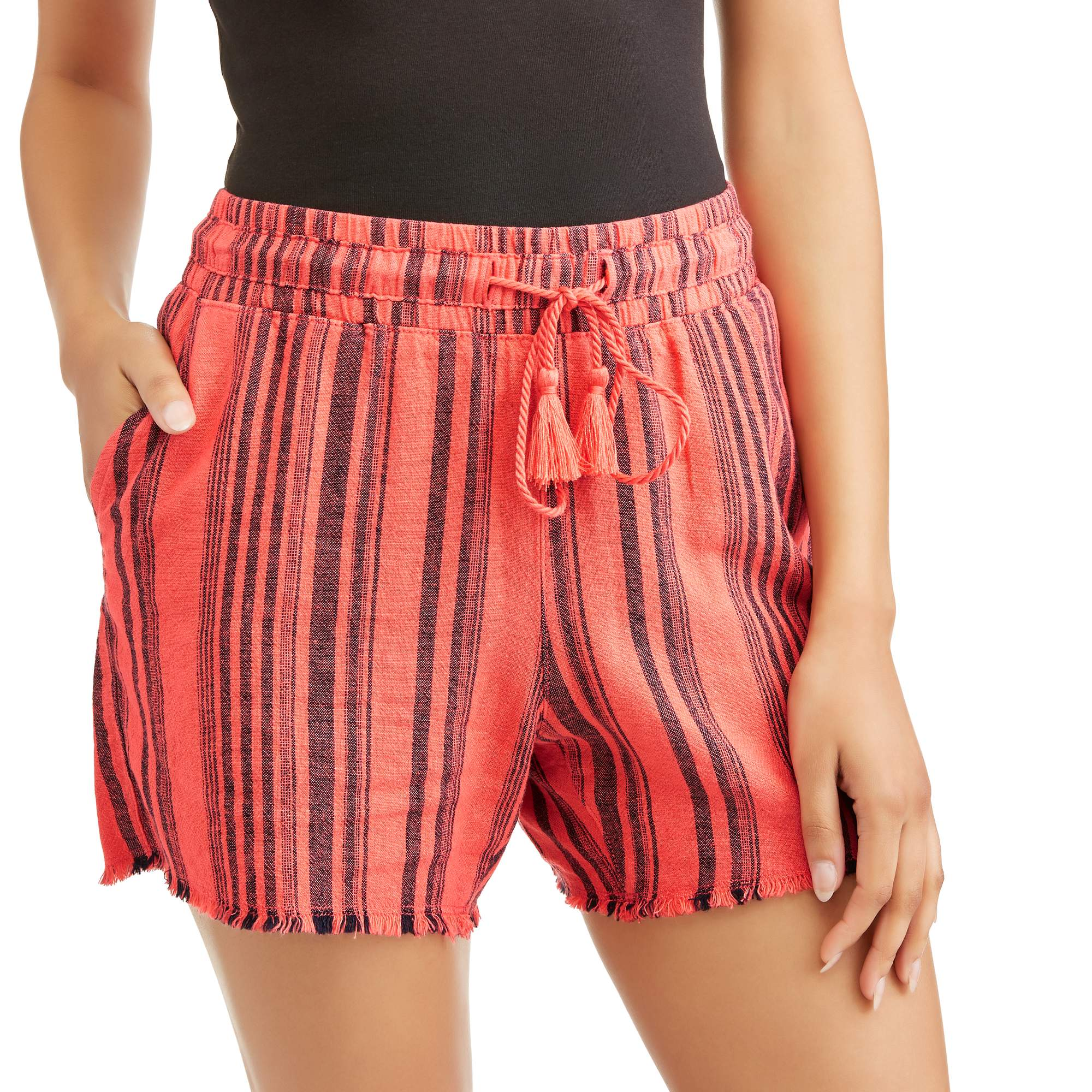 Time & Tru Women's Linen Shorts