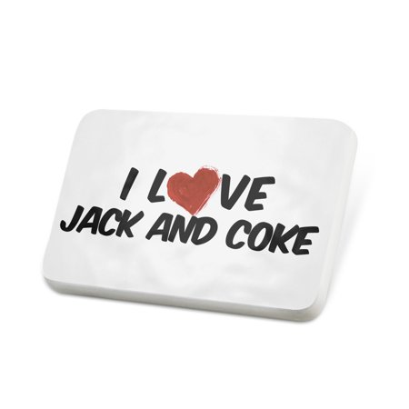 Porcelein Pin I Love Jack and Coke Cocktail Lapel Badge – (Coke Olympic Pin)