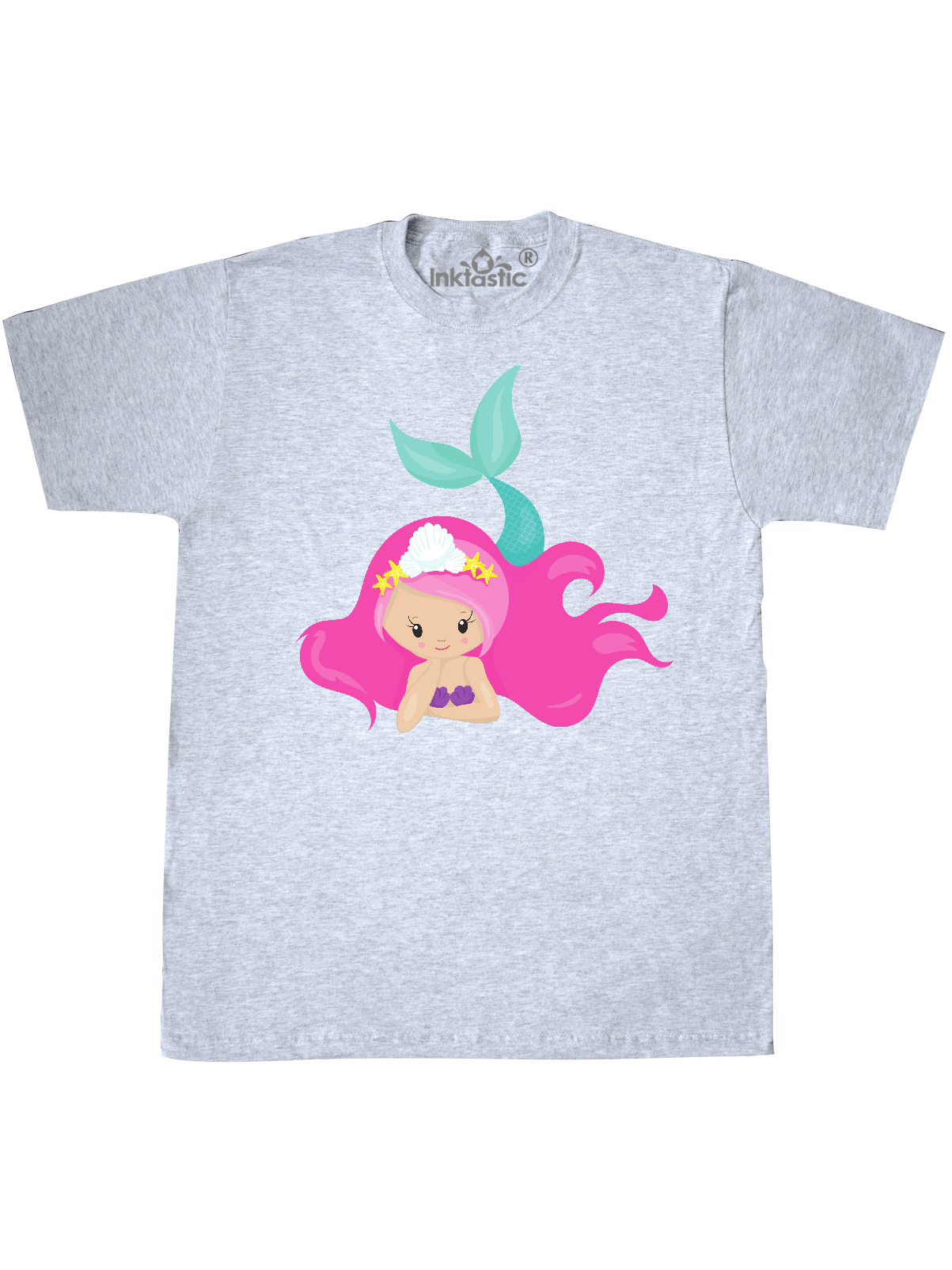 Mermaid with Green Tail Toddler T-Shirt inktastic Summer is My Season