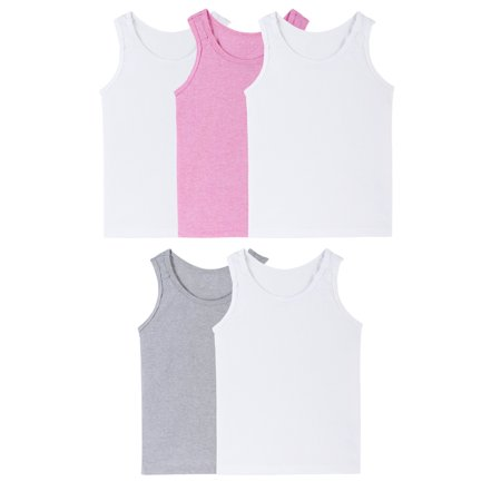 Fruit of the Loom Assorted Layering Tanks, 5 Pack (Toddler Girls) ()