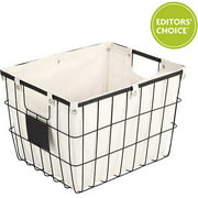 Better Homes and Gardens Medium Wire Basket with Chalkboard, Black