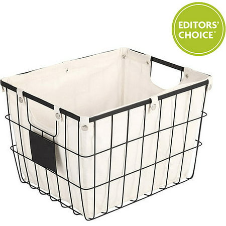 Better Homes and Gardens Medium Wire Basket with Chalkboard,