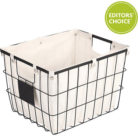 Better Homes and Gardens Medium Wire Basket with Chalkboard, Black ()