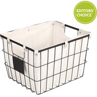 Better Homes and Gardens Wire Basket with Chalkboard, Black