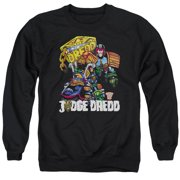 Judge Dredd Bike And Badge Mens Crewneck Sweatshirt