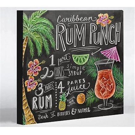 One Bella Casa 73824WD20 20 x 24 in. Rum Punch Canvas Wall Decor by Lily & Val - Gray & Multi Color - Rum Punch Recipes
