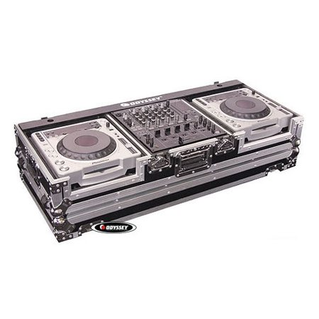 odyssey fz12cdjw flight zone dj coffin with wheels for a 12 mixer and top large format cd (Flight Zone Coffin)