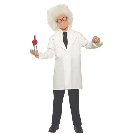 Nick Halloween Bumpers (Childs Mad Scientist Lab Coat Beaker Bunsen Burner Chemist Halloween Costume)