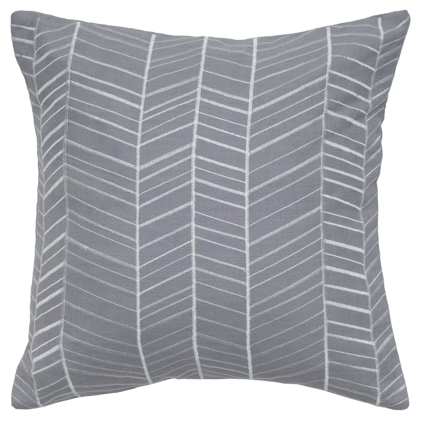 """Rizzy Home lines with lines18"""" x 18""""Cotton decorative filled pillow"""