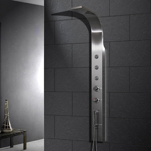 Stainless Steel Shower Panel - Ariel