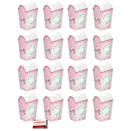 Sweet Swan Baby Shower Party Popcorn Favor Boxes 16 Pack (Plus Party Planning Checklist by Mikes Super Store)](Sweet 16 Favors)
