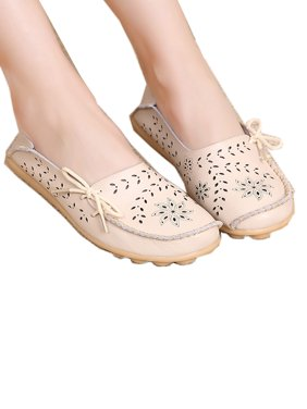 FLORATA Women's Driving Shoes Loafers Softness Natural Comfort Walking Flat Shoes Slip On Anti-skid Moccasins