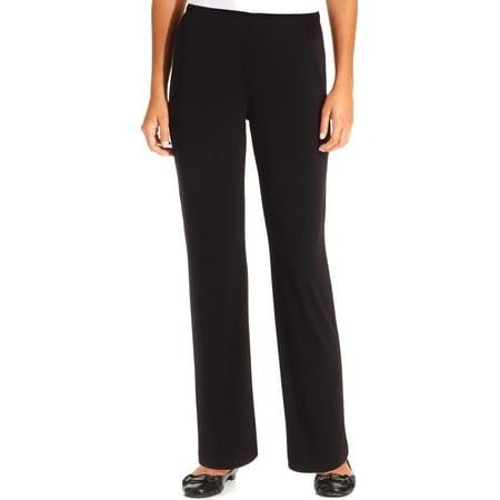 NY Collection Womens Petites Matte Jersey Flat Front Wide Leg (Mary Kay Luminous Wear Vs Matte Wear)