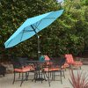 Pure Garden 10' Easy Crank Auto Tilt Patio Umbrella, Multiple Colors
