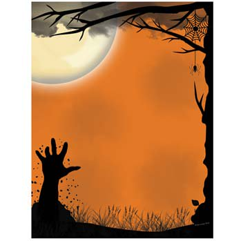Awakening Halloween Letterhead Laser & Inkjet Printer Paper - Halloween Easy Crafts Paper
