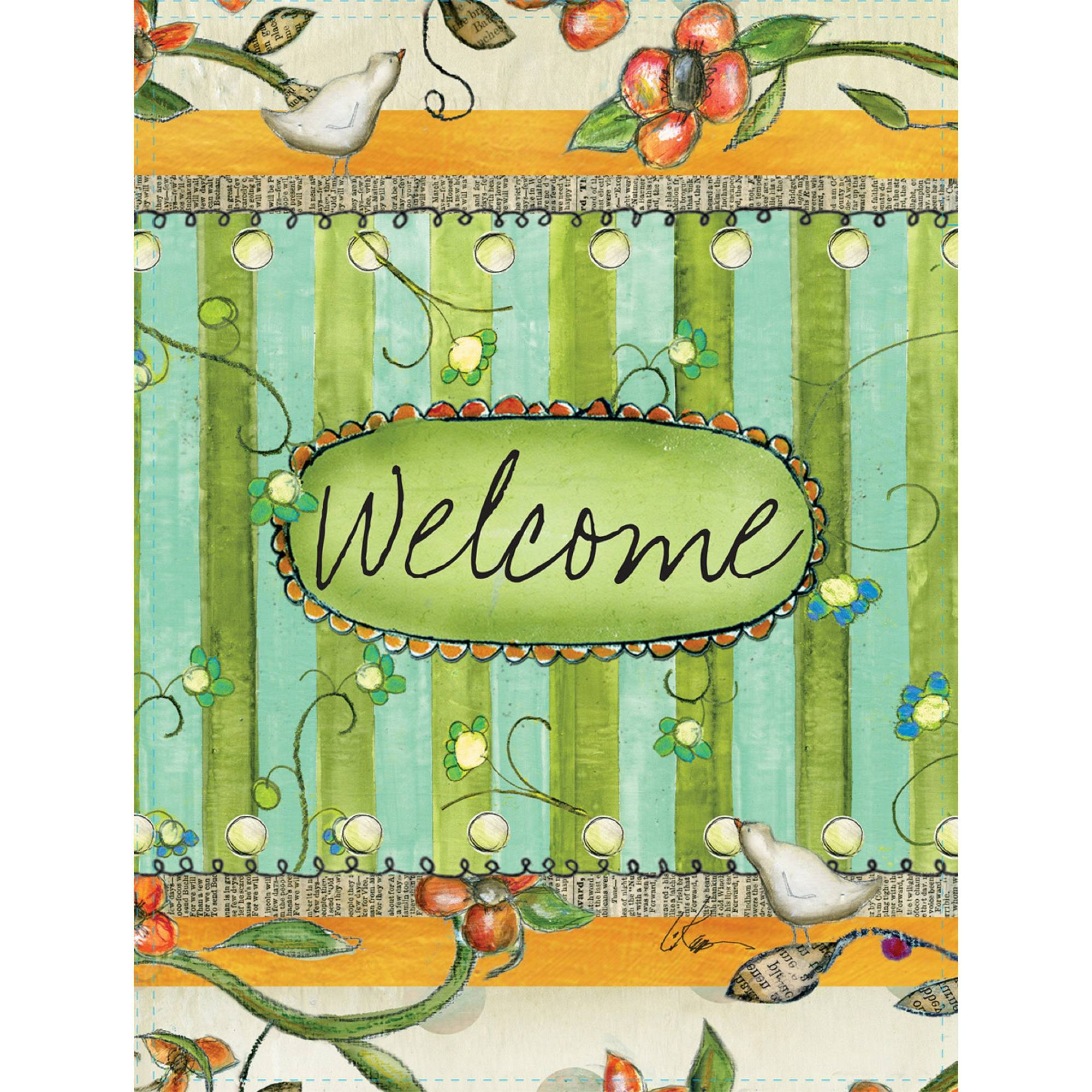 "Well Street by Lang ""Welcome"" Mini Garden Flag, 12"" x 18"""