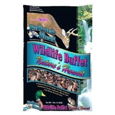 Brown's Bird Lover's Blend Wildlife Buffet Nature's Harvest Bird Food, 7 Lb by F.M. BROWN'S SONS, INC.