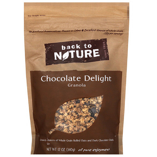 Back To Nature Chocolate Delight Granola Clusters, 12 oz (Pack of 6)