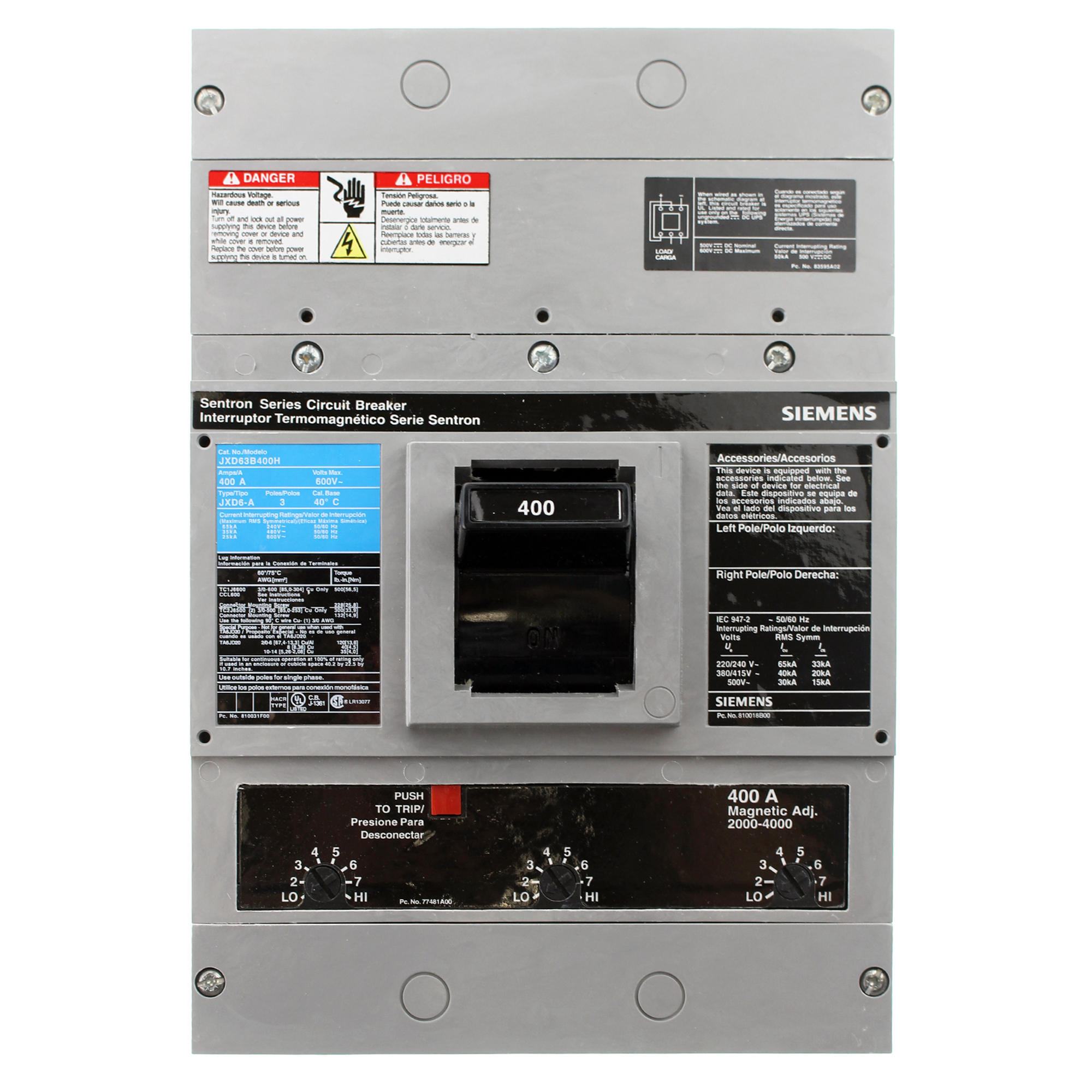 JXD63B400H Siemens - Circuit Breaker