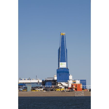 The Liberty Oil Rig In The Prudhoe Bay Oilfield On The North Slope Arctic Alaska Summer Canvas Art   Lucas Payne  Design Pics  12 X 19