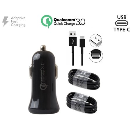 Adaptive Quick Charger w/ QC 3.0+Fast Charging USB-C Cable For HTC U11 Life Black - image 8 of 9