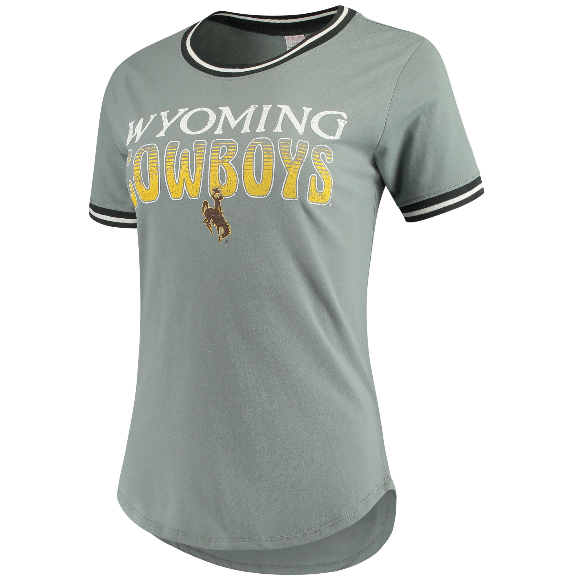 Women's Concepts Sport Charcoal Wyoming Cowboys Elect T-Shirt