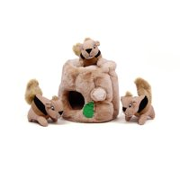 Outward Hound Hide-A-Squirrel and Puzzle Plush Squeaky Dog Toy