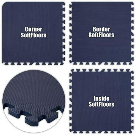Alessco SFNB0626 SoftFloors -Navy Blue -6  x 26  Set - image 1 of 1