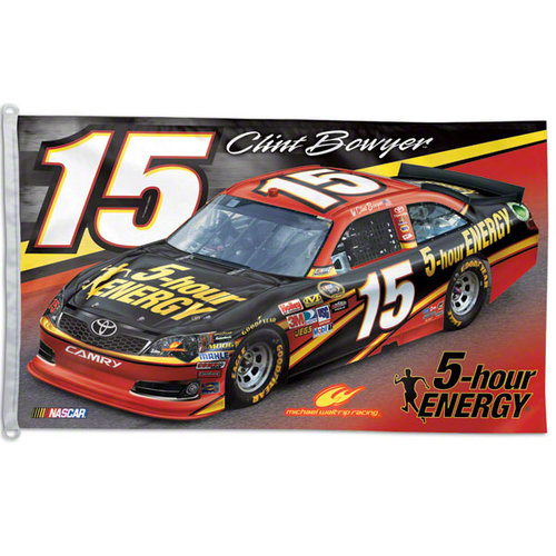 Clint Bowyer One Sided 3x5 Flag