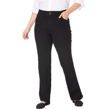Woman Within Plus Size Petite Bootcut Tummy Tamer Jean