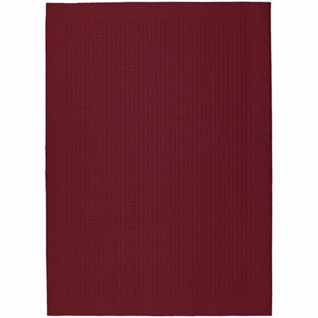 Garland Rug HS-00-RA-0057-14 Herald Square Chili Red 5 Ft.  x 7 Ft.   Area Rug