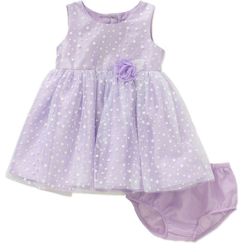 George Newborn Baby Girl Easter or Special Occasion Lilac Glitter Dress