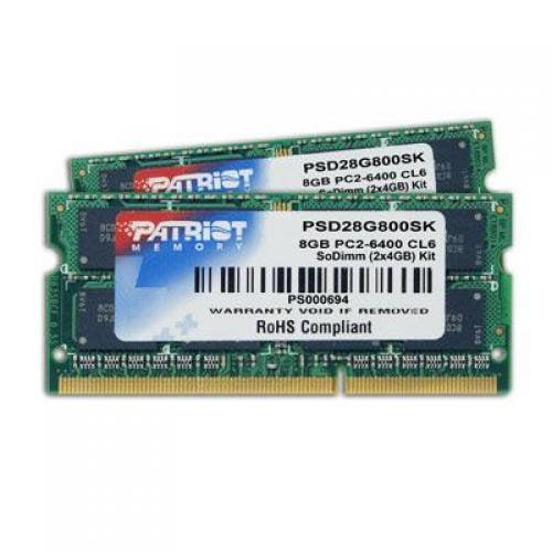 Patriot Signature DDR2 8GB (2 x 4GB) CL6 PC2-6400 (800MHz...