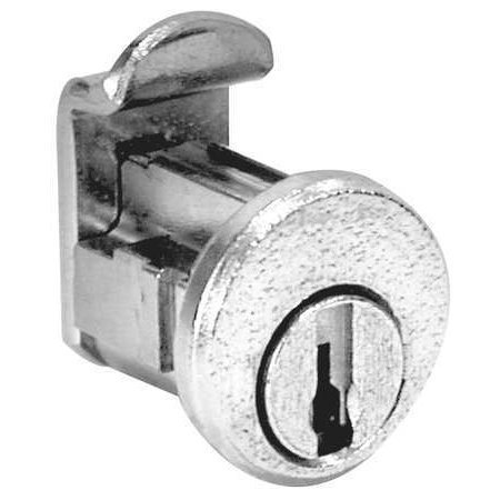 COMPX NATIONAL C8716 Pin Tumbler Lock,7/8 In,Bright Nickel