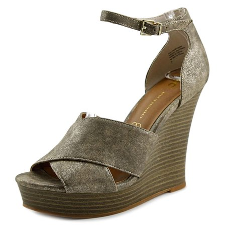 Leather Open Toe Wedge Heel (BC Footwear Scenic Route Women  Open Toe Leather  Wedge Heel)