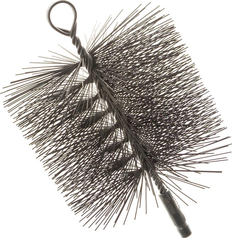 Imperial BR0209 Premium Round Chimney Cleaning Brush, 7 in, Wire Bristle Trim by IMPERIAL MANUFACTURING