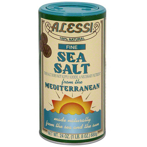 Alessi Fine Sea Salt, 24 oz. (Pack of 6)