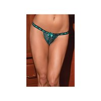Queen Tickled Teal G String 1376X by Coquette Teal