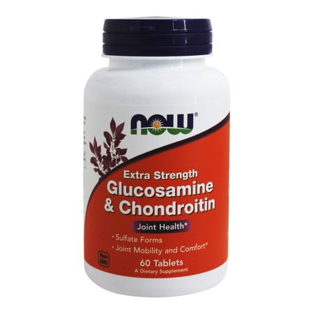 Glucosamine Tablets - NOW Foods - Glucosamine and Chondroitin Sulfate Extra Strength Joint Health - 60 Tablets