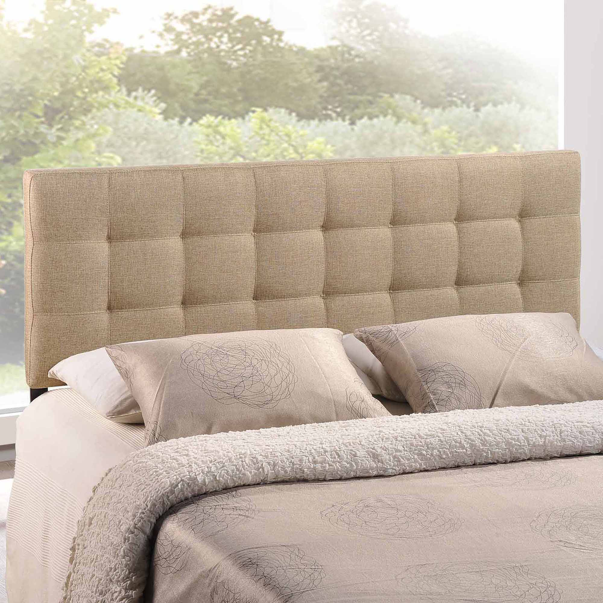 modway lily king upholstered headboard multiple colors  walmartcom -