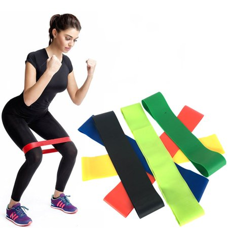 - Exercise Yoga Resistance Rubber Band Gym Fitness Trainer Stretch Loop Leg Tool