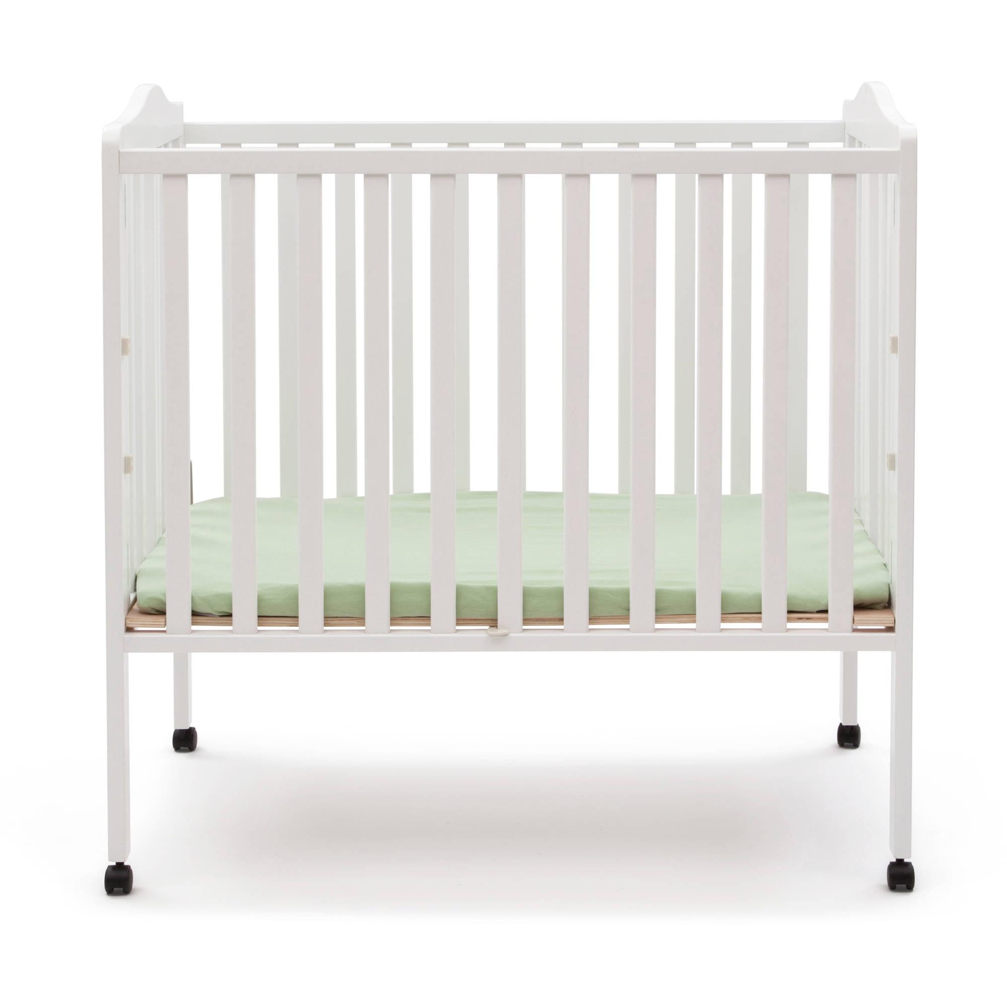 Delta Children Folding Portable Crib With Mattress   Walmart.com