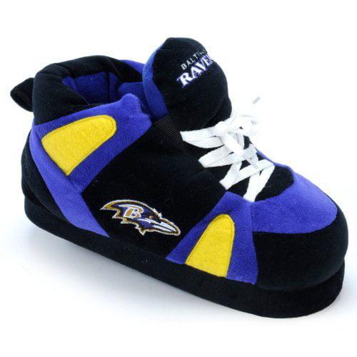 Comfy Feet NFL Sneaker Boot Slippers - Baltimore Ravens