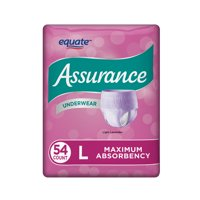 Assurance Underwear, Women's, Size L, 54 Count