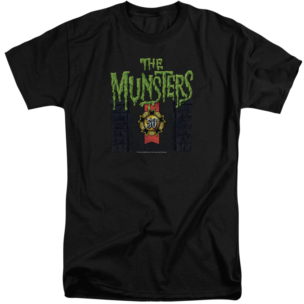 Munsters 50 Year Logo Mens Big and Tall Shirt